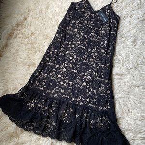 NWT Black Lace Goth Romantic Sz S